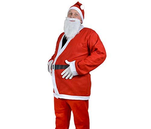 Santa Magix Weihnachtsmannkostüm 6-teiliges Set Weihnachtsmann Nikolaus Kostüm traditionell komplett...
