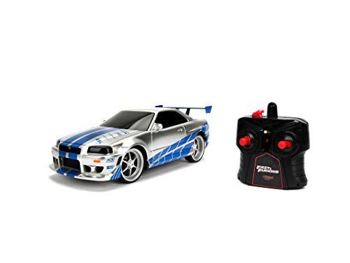 Jada Toys Fast & Furious RC-Auto, 2002 Nissan Skyline GT-R, R34, Ferngesteuertes Auto, Turbofunktion,...