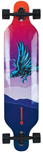 Schildkröt Longboard Freeride 41, Design: God Feather, 9-fach verleimtes Ahorn, Komplettboard mit Drop...