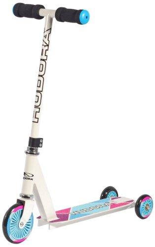HUDORA Kinder-Roller Evolution Girl Scooter Kinder, weiß, Umstellbarer Scooter für Kinder, 22016