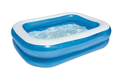 Bestway Family Pool, Pool rechteckig für Kinder, leicht aufbaubar, blau, 201 x 150 x 51 cm