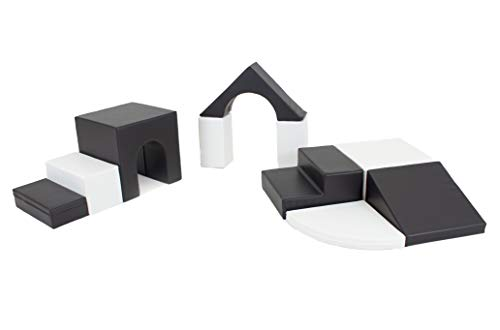 IGLU XL Softbausteine Riesenbausteine Großbausteine 10 Stück Schwarz und Weiß