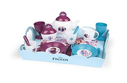 Smoby - Die Eiskönigin Serviertablett - 10-tlg Spielzeuggeschirr-Set mit Tasse, Teller, Zuckerdose,...