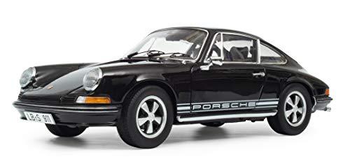Schuco 450036300 Porsche 911 S, Coupé, Baujahr 1973, Modellauto, 1:18, schwarz