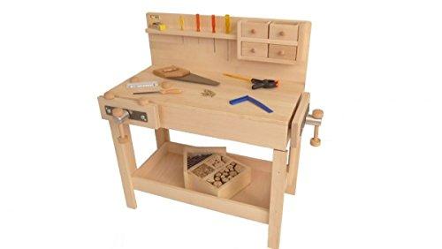 Holzspielzeug-Peitz, Kinder-Werkbank: höhenverstellbare Massivholz-Hobelbank