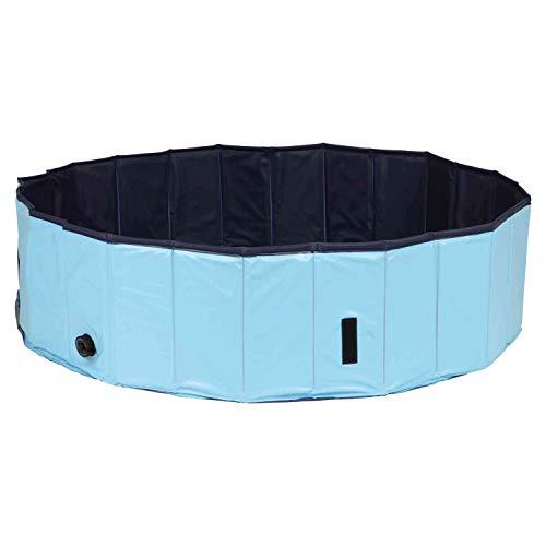 Trixie 39483 Hundepool, ø 160 × 30 cm, hellblau/blau
