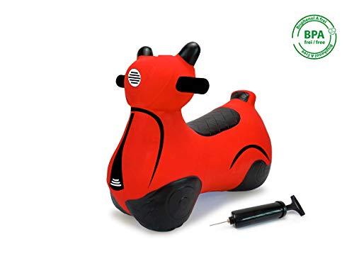 Jamara 460572 Hüpfroller rot-bis 50 kg, fördert den Gleichgewichtssinn und die motorischen...