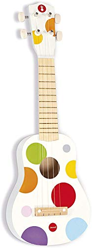 Janod Holz Ukulele 'Konfetti' - Holzspielzeug für Kinder - Musikinstrument für Kinder -...
