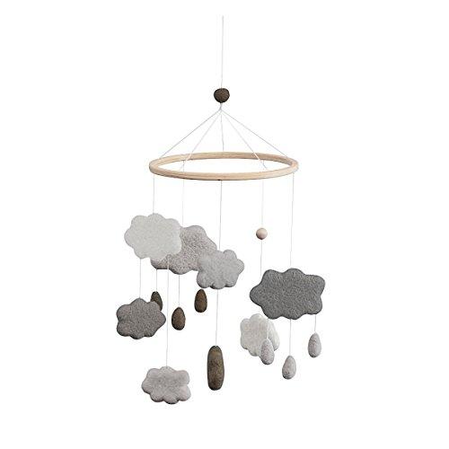 Sebra - Mobile - Windspiel - Wolken - Baumwolle - Ø 22 cm - Höhe 57 cm