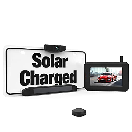 BOSCAM SunGo Solar Kabellos Rückfahrkamera Set, DIY Installation ohne Verkabelung, Drahtlose Digitale...