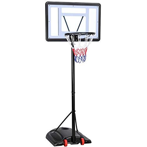 Yaheetech Basketballkorb Basketballständer mit Rollen Basketballanlage Standfuß mit Wasser Sand...