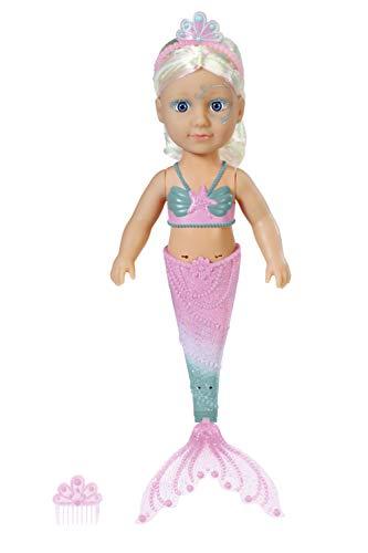 BABY Born 830932 Little Sister Meerjungfrau 46cm Puppe - Leicht für Kleine Hände, Kreatives Spiel...