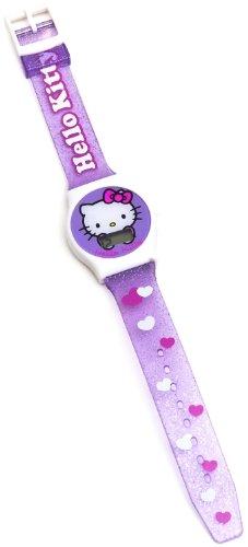 Hello Kitty Mädchen-Armbanduhr Herz Glitter Digital Quarz 25427