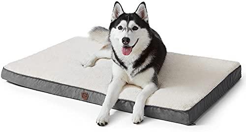 EHEYCIGA Hundebett Hundekissen Grosse Hunde XL 104x68x7cm Dog Bed waschbar grau Hundematratze eierförmig...