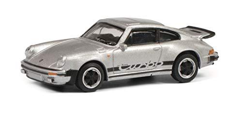 Schuco 452022400 Porsche 911, 3.0 Turbo, Modellauto, Maßstab 1:64, Silber