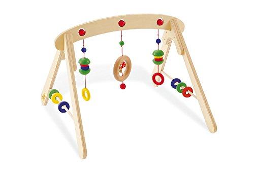 Pinolino Babygym Jane, aus Holz, zur Spiel- und Greifanimation, mit Kugeln, Ringen, Halbkugeln und einem...