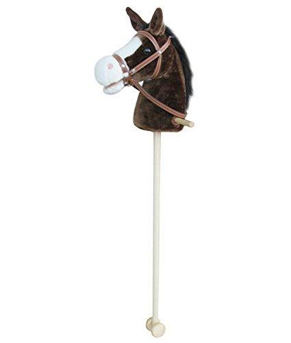 Sweety Toys 5086 Steckenpferd Farbe schwarzer Mähne mit Funktion Größe ca.100 cm, Braun-Chocolate