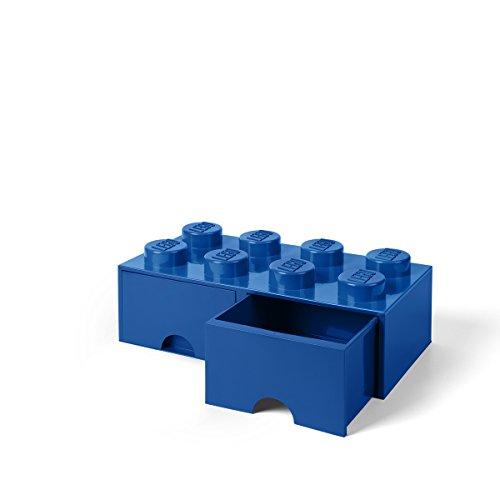 Lego 40061731 Opslag Baksteen 8 met Laden, Plastik, Blau, 50,2 x 25,2 cm