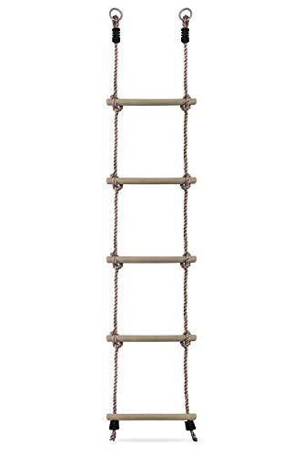 HIKS® Kinder Strickleiter mit Holzsprossen ideal für Klettern Rahmen, Baumhaus, den & Play House.