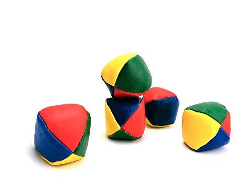 STUWU 5 er Set Jonglierbälle zur Jonglage für Kinder und Anfänger ca 4,5 cm und ca 50g Jonglierball