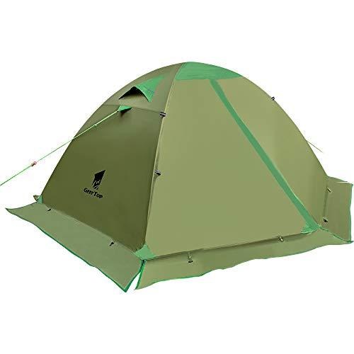 GEERTOP Zelt Kuppelzelt Campingzelt Familienzelt Trekkingzelt Aluminiumstangen Wasserdichten - 140 x 210...