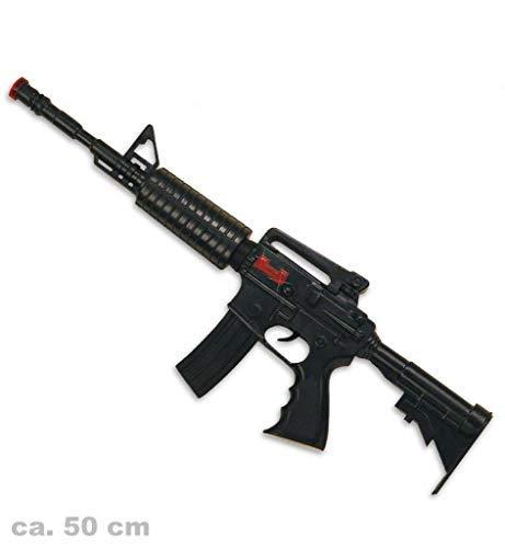 KarnevalsTeufel Spielzeug - Maschinengewehr M16 mit Sound, ca. 50 cm lang | Kostüm, SWAT, Polizei, FBI,...