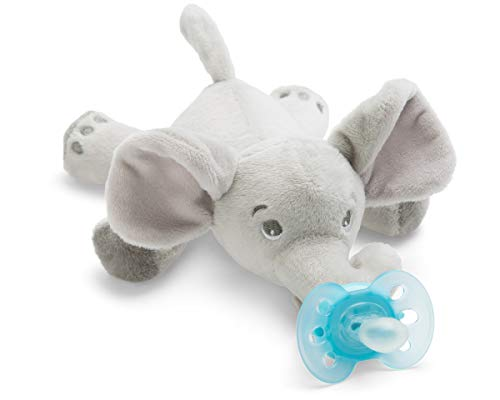 Philips Avent Snuggle Elefant SCF348/13, Kuscheltier mit Schnuller ultra soft, perfektes Geschenk für...