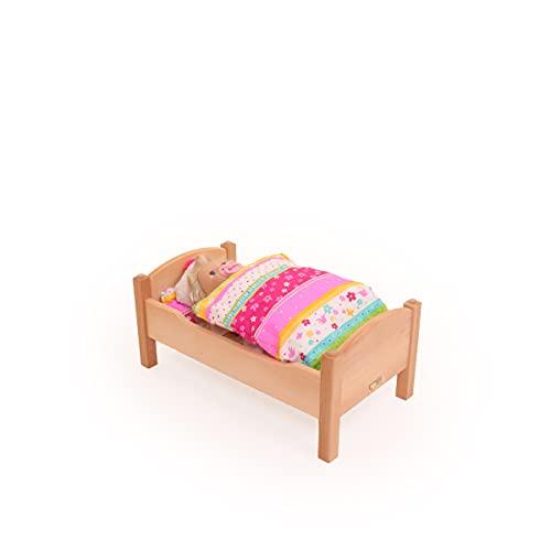 Kinder-Puppenbett 5007 für Babypuppe - handgefertigt - Massivholz-Puppenmöbel
