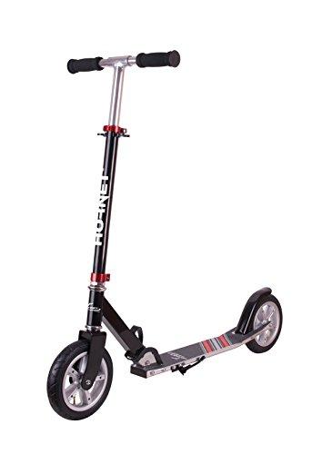 Hornet Scooter Roller Air 200, schwarz/rot | Luftreifen Big Wheel | Tret-Roller luftbereift |...