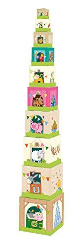 HABA 5879- Stapelwürfel Auf dem Land, lustiges Stapelspiel für Babys ab 1 Jahr, Stapelwürfel aus...