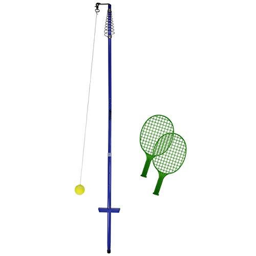 Best Sporting Twistball-Set inkl. 2 Twistball-Schläger - Swingball - Circletennis, blau