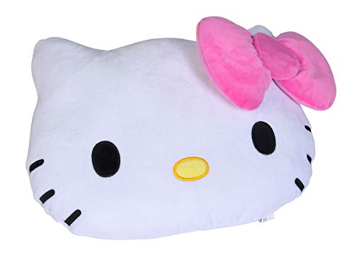 Simba 109281015 - Soft Plüschkissen, 35cm, Hello Kitty Kopfform mit Schleife