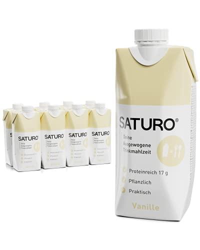 SATURO® Trinknahrung Vanille | Astronautennahrung Mit Protein & 330kcal | Vegane Trinknahrung Mit...