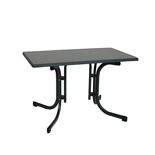 greemotion Klapptisch anthrazit, Gartentisch mit witterungsbeständiger Sevelit-Tischplatte in...