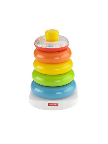 Fisher-Price FHC92 - Farbring Pyramide bunter Stapelturm Baby Spielzeug und Lernspielzeug zum Sortieren...