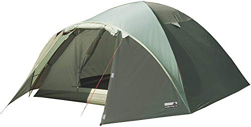 High Peak Kuppelzelt Nevada 4, Campingzelt mit Vorbau, Iglu-Zelt für 4 Personen, doppelwandig, 2.000 mm...