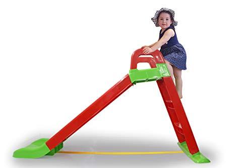 Jamara 460501 Rutsche Funny Slide rot-aus robustem Kunststoff, Rutschauslauf für sanfte Landungen,...