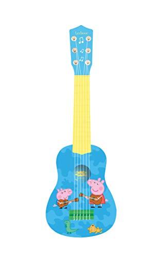 Lexibook K200PP Pig Peppa Wutz Schorsch Meine erste Gitarre, 6 Nylonschnüre, 53 cm, Anleitung inklusive,...