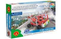 A ALEXANDER 1656 Constructor Feuerwehr Metall Bausatz, 314 Teile Metallbaukasten, Metallbausatz mit...