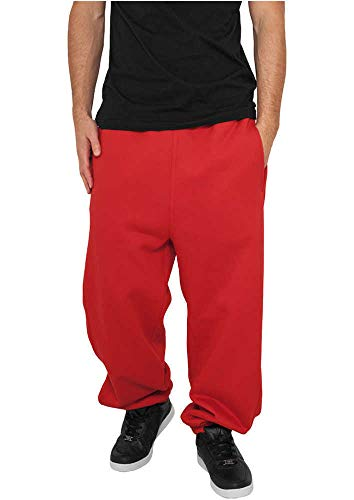 Urban Classics TB014B Herren Sweatpants, Rot (red), XL