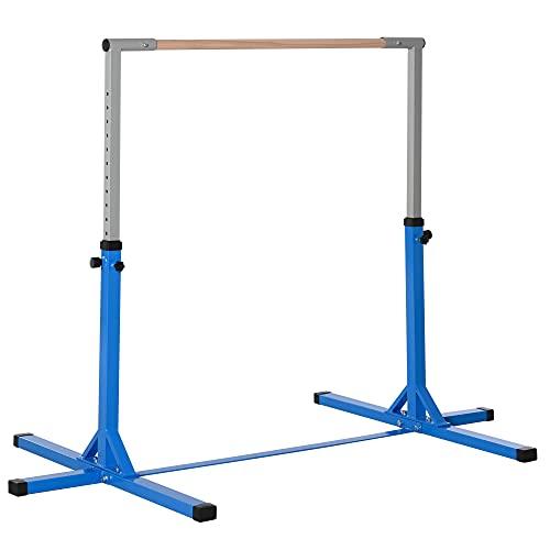 HOMCOM Gymnastik Turnreck Reckstange 13-stufige höhenverstellbar bis 75 kg belastbar Reckanlage...