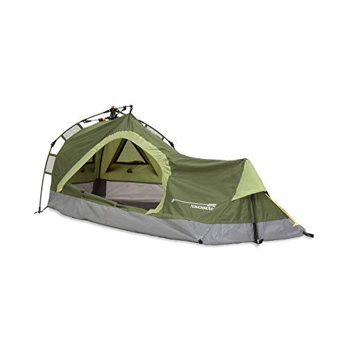 Lumaland Where Tomorrow Solo-Zelt Pop Up Wurfzelt 1-Personen-Zelt - Dreieck - 225x100x57 cm - Camping...