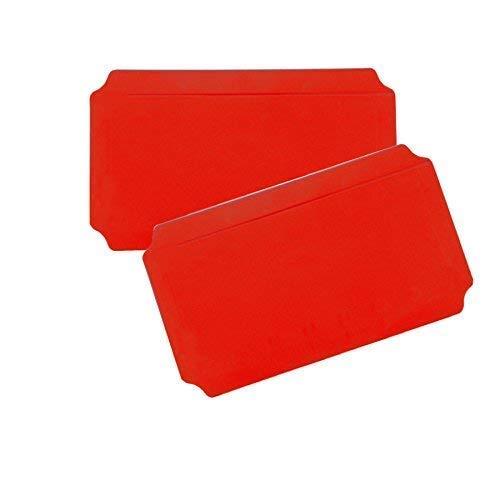 Moveandstic 2er Set Platte rot 20x40 cm