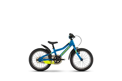 HAIBIKE SEET Greedy 16' Zoll 1-Gang Rücktritt leichtes Kinderrad blau-Lime-schwarz Rh21 Modell 2021...