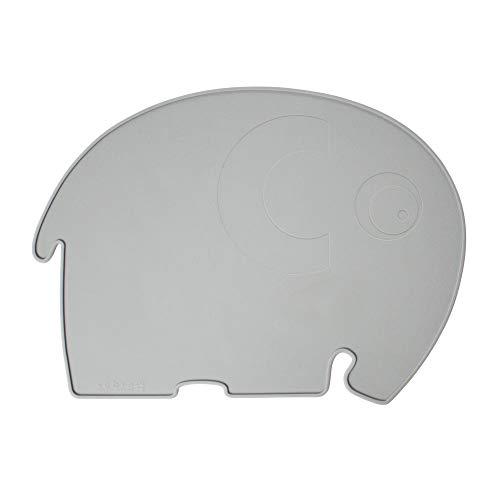 Sebra - Platzdeckchen, Platzset - Fanto der Elefant - Silikon - grau - 43 x 33 cm