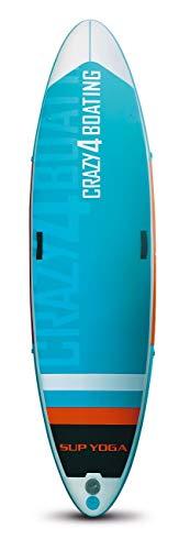 crazy4boating Yoga SUP Board Stand up Paddling aufblasbar