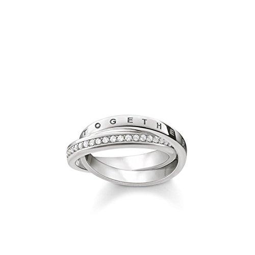 Thomas Sabo Damen-Ring Glam & Soul TOGETHER FOREVER 925 Sterling Silber Größe 52 TR2099-051-14-52