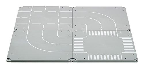 SIKU 5598 - Kreuzungen und Kurven, Kunststoff, Vielseitig einsetzbar, Inkl. Aufkleberbogen, grau