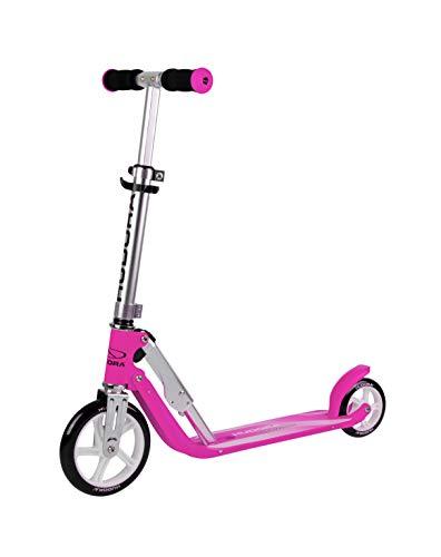HUDORA 14201/00 Little BigWheel, Magenta-Scooter Roller Kinder-Verstellbare Lenkerhöhe von 68 bis 74 cm,...