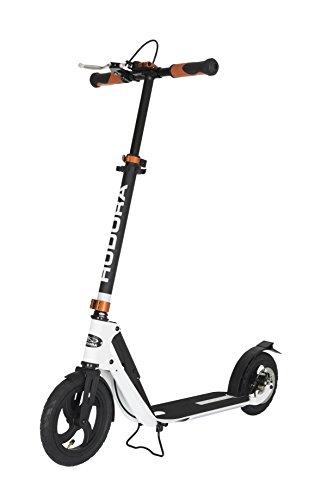 HUDORA 14035 BigWheel Air Dual Brake 205 Luftreifen-Scooter - Big Wheel Scooter mit Handbremse -...